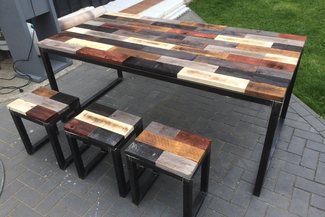 Burned wood table