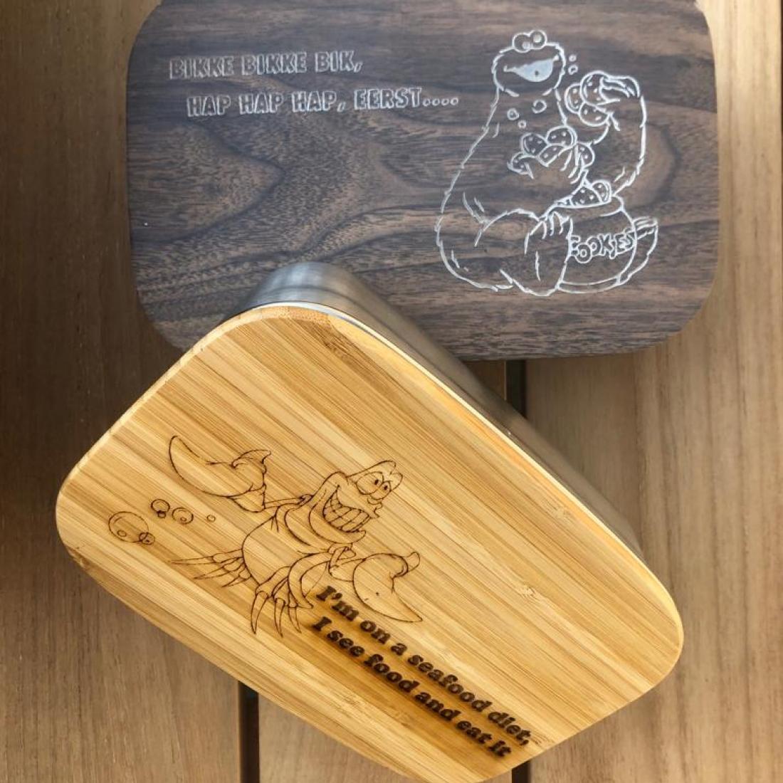 Sandwich box bamboo or aluminum