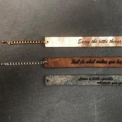 Lederen armband lang