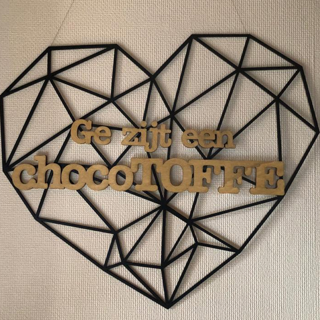 Geometric heart Chocotoff