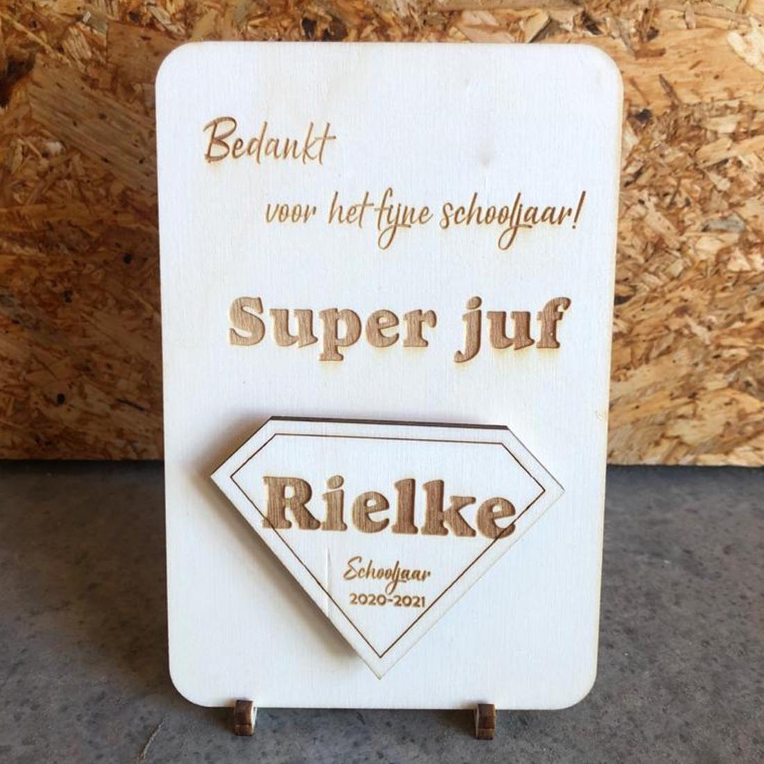 Card with magnet superteacher